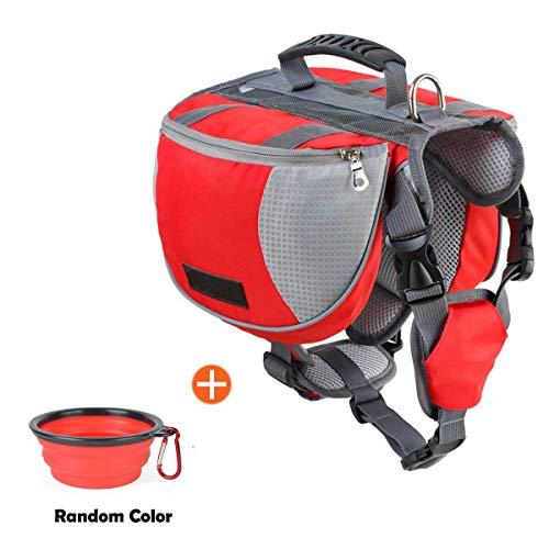 schnappy Dog Pack Travel Camping Hiking Backpack Saddle Bag for