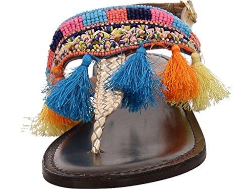 Ilse Jacobsen Frix1301-700 - Sandalias de vestir de Piel para mujer dorado