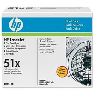 Hewlett Packard [HP] cartucho de tóner LaserJet Page Life 2600pp negro Batería de ion de litio Q7551XD [unidades 2]
