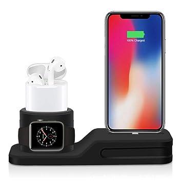 Soporte 3 en 1 para iPhone AirPods Apple Watch Dock Station ...