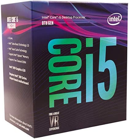 Intel Core i5-8400 Desktop Processor 6 Cores as much as 4.0 GHz LGA 1151 300 Series 65W
