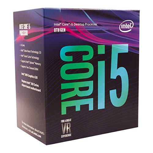 Intel Core i5-8400 Desktop Processor 6 Cores up to 4.0 GHz  LGA 1151 300 Series 65W (I3 Processor Or I5 The Best)
