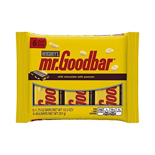 Mr Goodbar Halloween Costume (MR. GOODBAR Chocolate, Milk Chocolate Candy Bar with Peanuts, 10.5 Ounce Package (Pack of 6) (Halloween Candy))