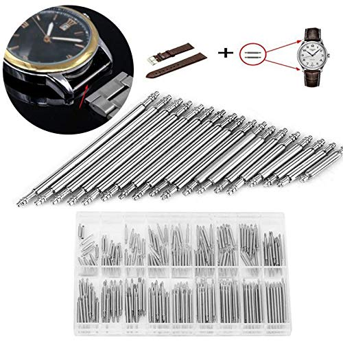 Maslin 360PC Watch Band Spring Bars Stainless Steel Spring Bar Kit Watch Tool Set 8-25mm Strap Link Pins Repair Watch Link Pins Tool from Maslin
