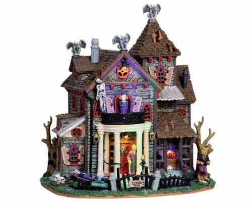 (Lemax Spooky Town 13 Ghastly Lane with Adaptor #)