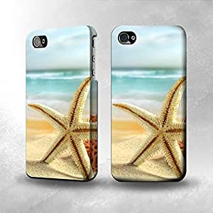 Apple iPhone 4 / 4S Case - The Best 3D Full Wrap iPhone Case - Starfish on the Beach