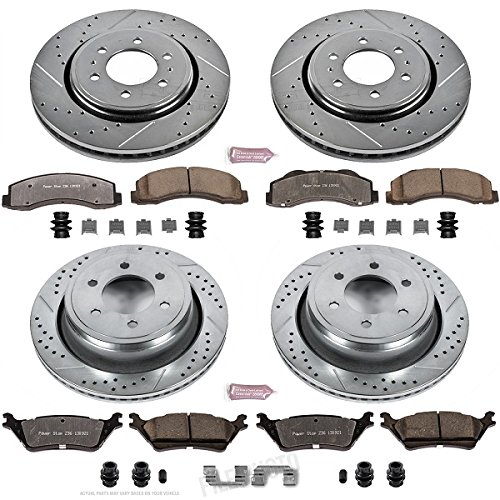 F150 Power Disc Brake (Power Stop K6268-36 Front & Rear Z36 Truck and Tow Brake Kit)