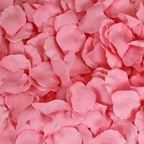 Koyal Wholesale 200-Pack Silk Rose Petals, Candy Pink
