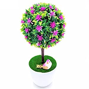 1pc Sakura Bonsai Simulation Decorative Artificial Flowers Fake Green Pot Plants 108