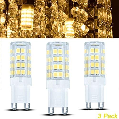 DLLT G9 Glühbirne 3 Stück, 3000K Warmweiß, Einfach zu installieren, für drei Lampenfassungen Kronleuchter