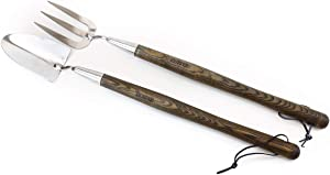 """Burpee 20"""" Stainless Steel Handled Fork and Trowel Set 