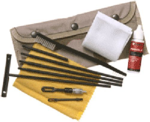 Kleenbore Gun Care Universal Field Pack Cleaning Kit with Alice Clip Attachment Device for Handguns, Rifles and Shotguns (Black)