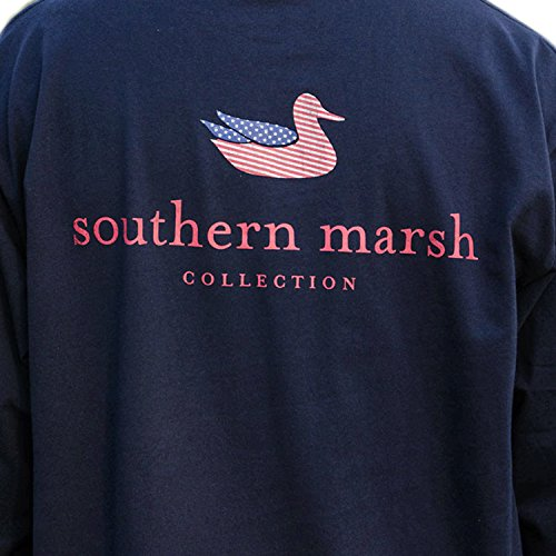 Discount Southern Marsh Men's Authentic Flag Long Sleeve Tee hot sale