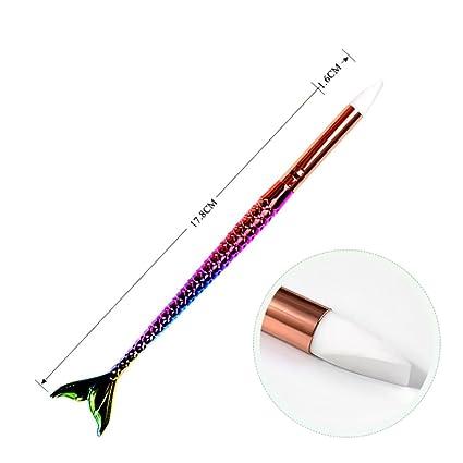 IGEMY - Herramienta para decoración de uñas, 1 pincel de silicona para manicura