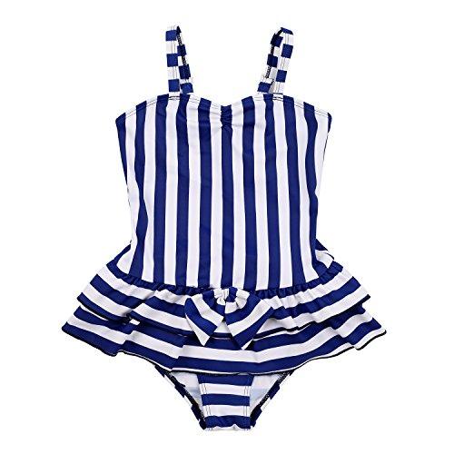 MingAo Girls Swimsuit Purple Striped product image