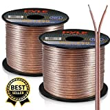 50ft 12 Gauge Speaker Wire - Copper Coated Cable in Spool for Connecting Audio Stereo to Amplifier, Surround Sound System, TV Home Theater and Car Stereo - PSC1250