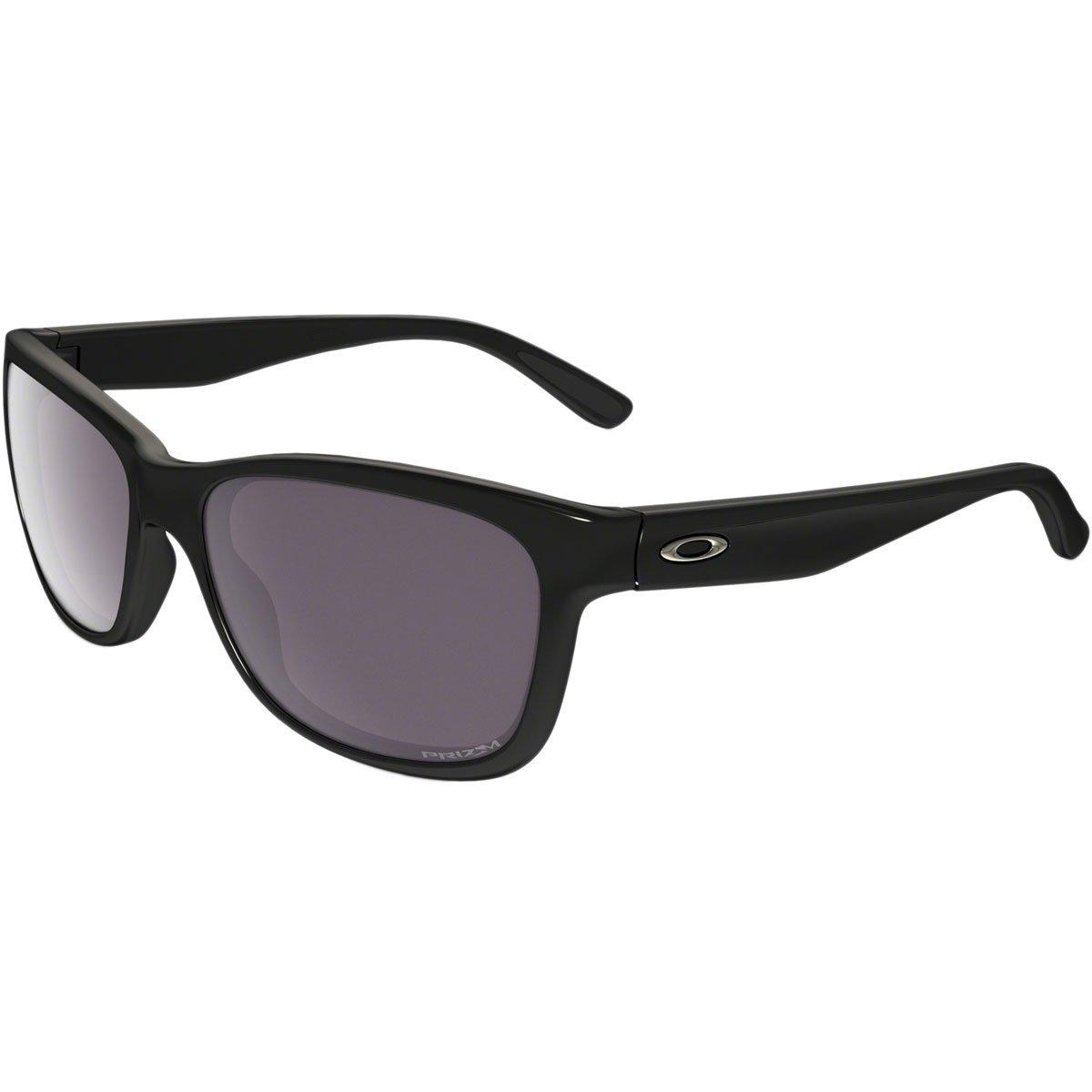 Oakley Womens Forehand Polarized Sunglasses, Polished Black/Prizm Daily, One Size