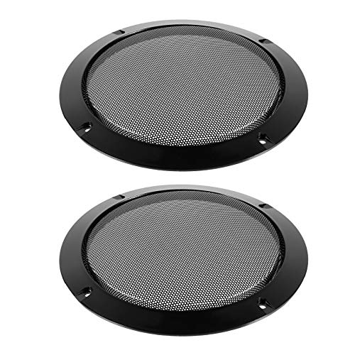 MILISTEN 2 Stuks Auto Speaker Grill Cover Guard Protector Metalen Gaas Speaker Decoratieve Cirkel Audio Accessoires
