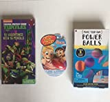 Valentine's Gift for Boys Bundle- Teenage Mutant Ninja Turtles Valentine Box of 16 with 16 Pencils, The Original Silly Putty, and Make Your Own(5 ) Powerballs Kit (includes All That's Needed)(3 Items)