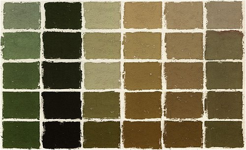 Terry Ludwig Soft Pastels- Set of 30 Neutral Greens