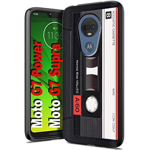 - Motorola G7 Power/Supra Gel Thin Phone Cover [Cassette Tape Print]