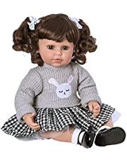 """Adora ToddlerTime """"Preppy"""" Doll with embroidered bunny sweater, skirt and mary jane patent shoes"""