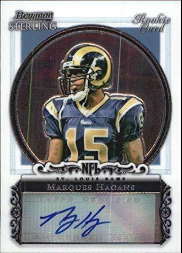 2006 Bowman Sterling #MHA Marques Hagans RC Auto NFL Footballl Trading Card 2006 Bowman Sterling Rc Auto