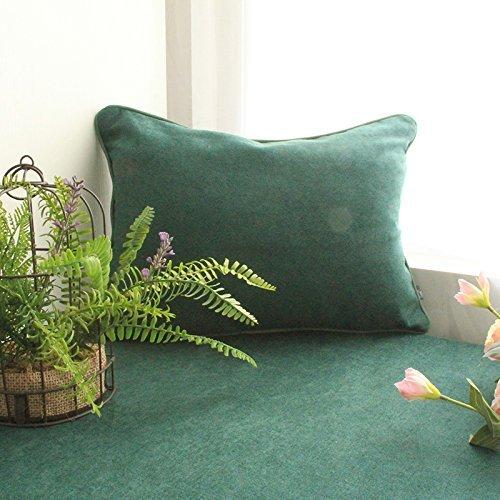 HOMEE Cojín de almohada verde oscuro del campo de la flor ...