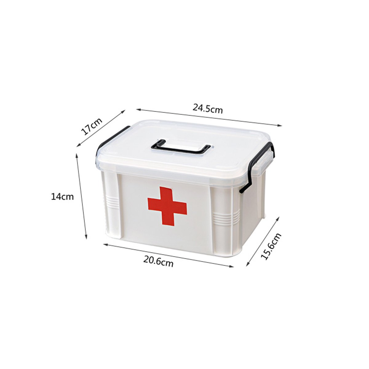 Small Size Double Layer Family Medicine Cabinets First Aid Kit Plastic Storage Pill Cases Household First Aid Kit Multifunctional Medicine Box Storage Boxes Organizer