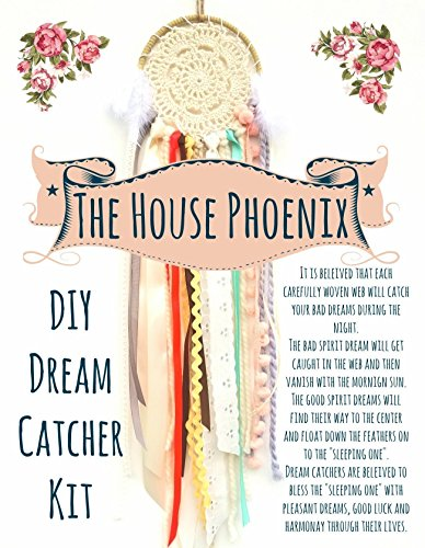 DIY Doily Dream Catcher Kit. Birthday Gift for Children or Adults. Make Your Own Craft Project from The House Phoenix
