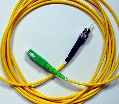 Amazon.com: SC/APC to ST Fiber Optic Patch Cable - 1M / 3.28ft - Single Mode - SIMPLEX - Commercial Quality: Home Audio & Theater