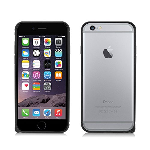 Alienwork Schutzhülle für iPhone 6 plus Ultra-flach Hülle Case Bumper Aluminium schwarz AP6P01-01