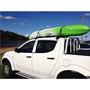 Car Soft Roof Luggage Rack Cargo storage Carrier Surf Roof Rack, Black, Pack of 2