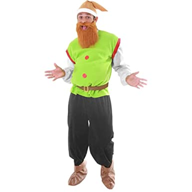 Amazon.com: Men's Dwarf Adult Halloween Costume Standard Size ...