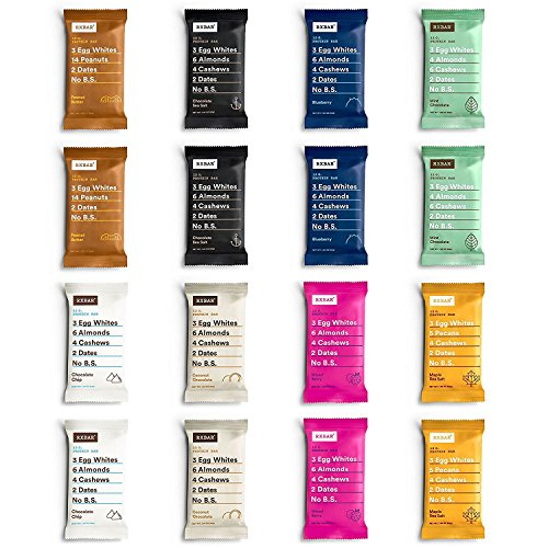 - RxBar Real Food Protein Bars 8 Flavor Variety Pack, 2 Each, 16 Total Count