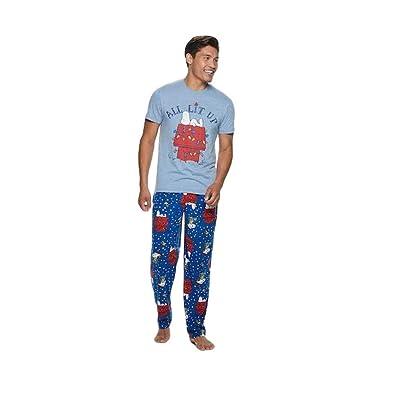 Christmas Peanuts Snoopy 2 Piece Sleep Pajama Set at Men's Clothing store