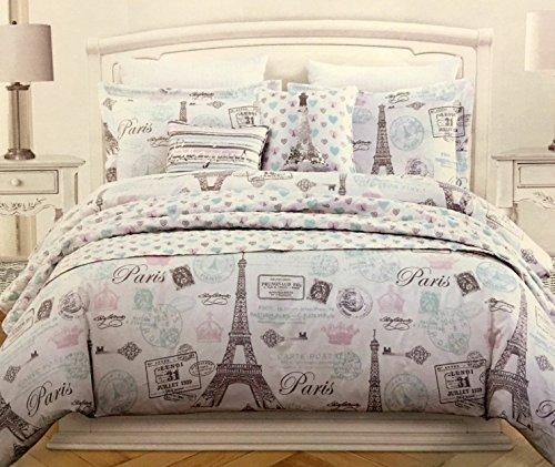 ull/Queen 5-pc Parisian Eiffel Tower Comforter Set (Eiffel Tower Comforter)