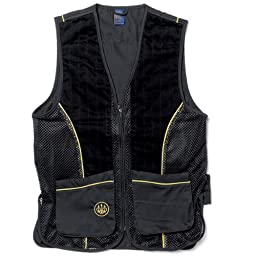 Beretta Men\'s Silver Pigeon Shooting Vest, Black/Gold, X-Large