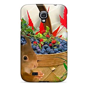 Ideal NikRun Case Cover For Galaxy S4(autumn Blueberries), Protective Stylish Case