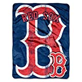 The Northwest Company MLB Boston Red Sox Micro Raschel Plush Throw Blanket, Trip Play Design