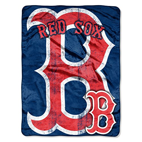 The Northwest Company MLB Boston Red Sox Micro Raschel Plush Throw Blanket, Trip Play (Red Sox Throw)