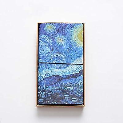 Amazon.com : Van Gogh Travel Journal Planner, Portable PU ...