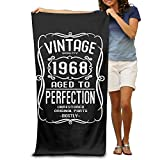 DWN Bath Towels Vintage 1968 Premium Towel Blanket Super Softness Absorbency 32''x51'' For Luxury Hotel & Spa