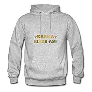 Women Casual Stylish Sarahdiaz X-large Custom-made Karma Grey Sweatshirts