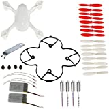 AVAWO for Hubsan X4 H107D 8-in-1 Quadcopter White Spare Parts Crash Pack Parts (As shown)