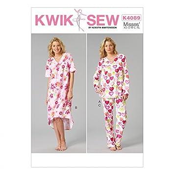 b26f5efa8e0709 KwikSew Damen Schnittmuster 4089 Schlafanzug & Nachthemd: Amazon.de ...