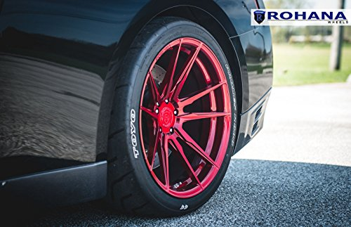 "19"" Inch Rohana RF2 Gloss Red Rotary Forged Wheels Rims Only 