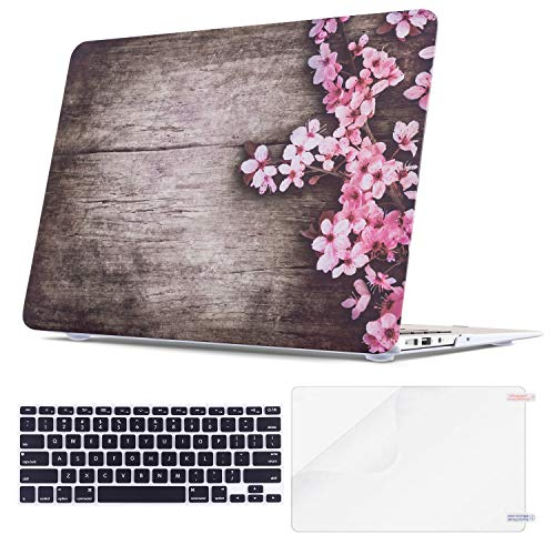 (TeenGrow MacBook Air 13 Inch Case, Rubberized Plastic Hard Protective Laptop Case Shell with Keyboard Cover for Mac Air 13