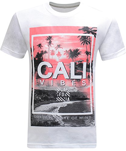 (California Republic Cali Vibes Golden State of Mind Men's T-Shirt - (X-Large) - White)