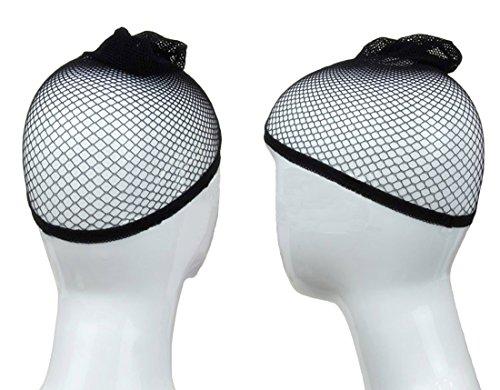 Blisstime Wig Cap Open End Black Mesh Net Liner Weaving Cap Pack of 3